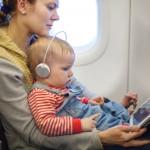 Children on aeroplanes