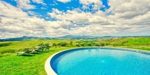 Circular Pool View Villa Banditaccia